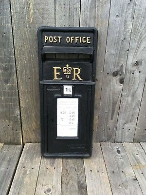British Royal Mail ER II Black Front Only
