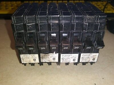 MP2020 20 Amp, Twin Pole, 120/240 Volt, Circuit Breaker Murray LOT OF 4