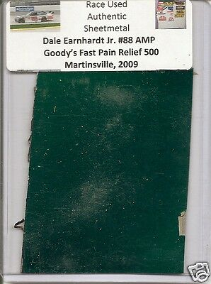 Dale Earnhardt Jr. authentic race used Goody's 500 sheet-metal Martinsville 2009