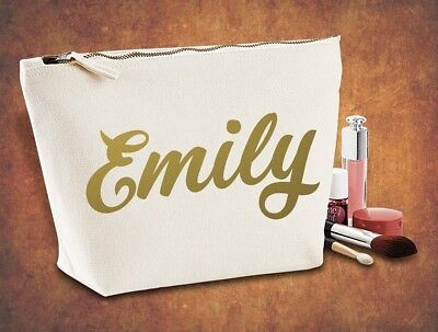 New Personalised Make Up/Wash Bag  Name Hen Party Christmas Gift Present Kids