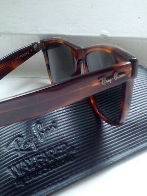 1990's Ray Ban Wayfarer II, 54mm Lens, B&L USA L1725 (Mon). WIth original case.