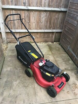 Sovereign Petrol Hand Push lawnmower in red - in good condition
