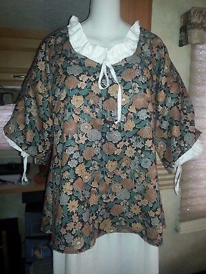 18th Century Historical Reproduction Short Gown (size 42  bust)