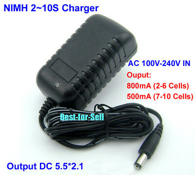 Ni-MH Ni-Cd Charger to battery 2.4V 3.6V 4.8V 6V 7.2V 8.4V 9.6V 10.8V 12V US