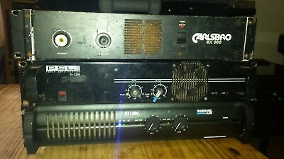 Power amplifiers 2800 watts combined. Carlsbro sx300, PSL ve-1200, Warrior KT130