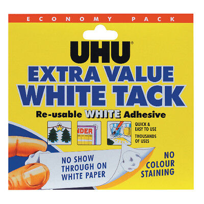 UHU White Tack Economy Pack 129g (Pack of 6) 43527
