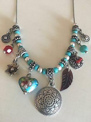 Tribal Turquoise Charm Necklace From Accessorize