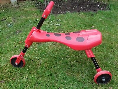 Childs  toddler red scuttle bug beetle bike