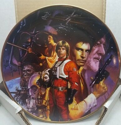 The Hamilton Collection Star Wars Trilogy Collector Plate by Artist HOPE MORGAN