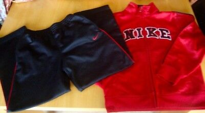 Nike Boys Zipped Red & Black Tracksuit Age 7