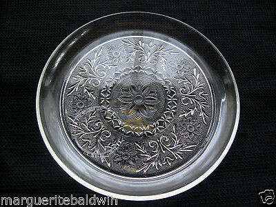 """Anchor Hocking Glass Clear Sandwich 9"""" Snack Luncheon Plate"""