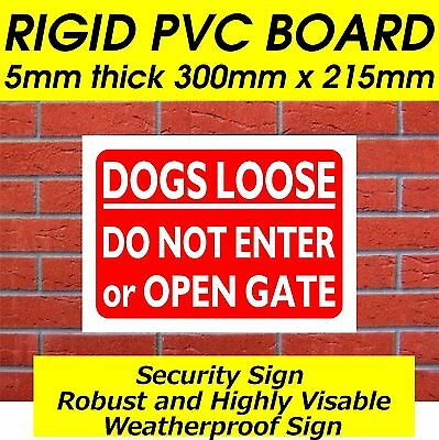 Dogs Loose Do Not Enter Security Sign Dog Warning Sign Safety Sign