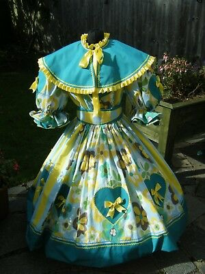 BRIGHT NEW PANTOMIME DAME COSTUME, THEATRE, STAGE, FANCY DRESS, UNISEX. up to 60