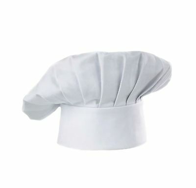 Chef Hat Adult Adjustable Elastic Baker Kitchen Cooking Chef Cap White