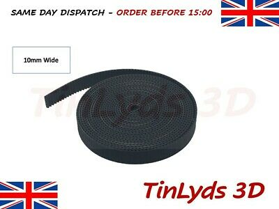GT2 Timing Belt 10mm wide - Prusa RepRap 3D printer part - CNC machine - 1 mtre