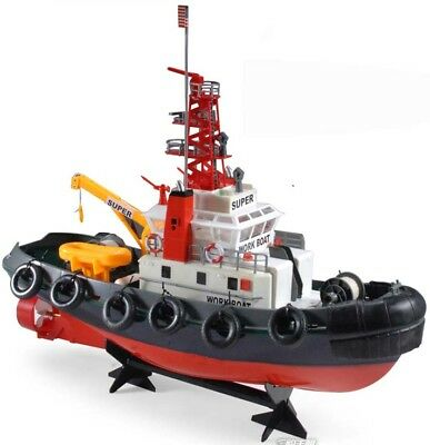 radio remote control rc fire boat tug boat  2.4GHz High Details -- Water Spray !