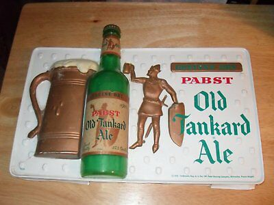 1956 Pabst Old Tankard Ale Plastic Bar Sign