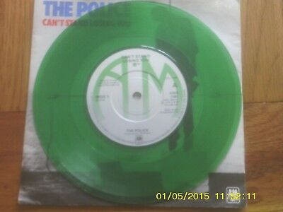 "The Police - Can't Stand Losing You / Dead End Job 7"" Green Vinyl P/s Ams 7381"