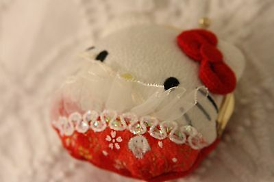Hello Kitty Japan Only Chirimen Coin Purse Red