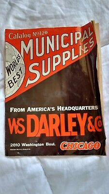 1939 Antique WS DALEY & CO MUNICIPAL SUPPLIES CATALOG # 120 industry