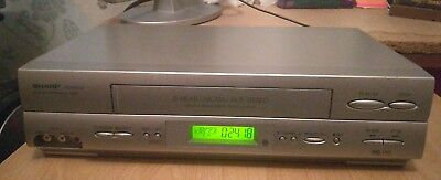 SHARP - VCR video player recorder PAL & NTSC with new scart cable