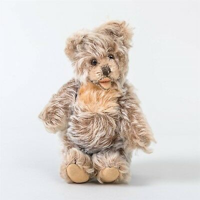 "Vintage Jointed Steiff Bear Curly Mohair ""Zotty"" Made in Germany Stands 7"" tall"