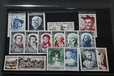 France - 1950 - Complete Issues For Year - All Unmounted Mint