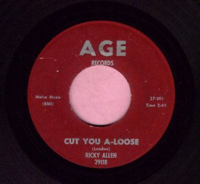 "Ricky Allen "" Cut You A - Loose "" Age Records RnB Listen"