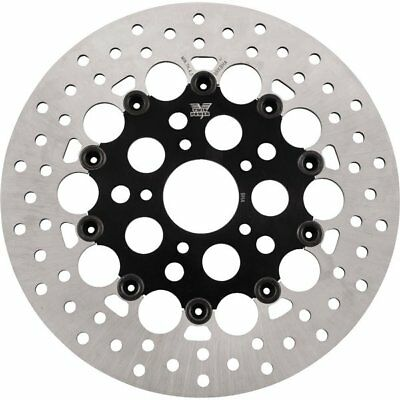 """Black Sz 11.5"""" Twin Power Floating Hole Front Rotor - 1441RB"""