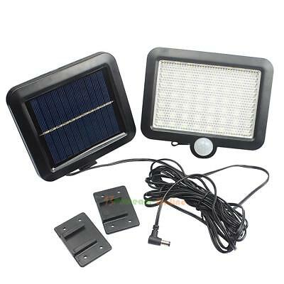 56 LED Solar Powered Motion Sensor Light Security Flood Outdoor Garden Lamp Kit