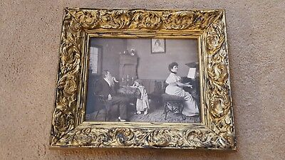 Vintage Antique Gold Gilt Gesso  Picture Frame Scrolls  FW Guerin Photography