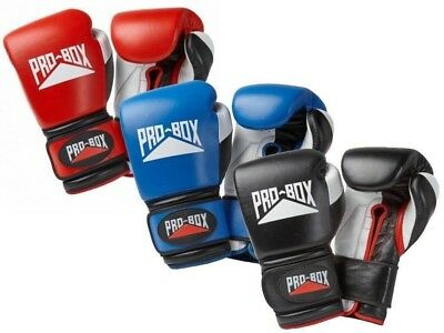 Pro Box Sparing Boxing Gloves 10oz 12oz 14oz 16oz 18oz  Black Blue Red Pro Spar