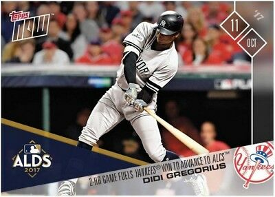 2017 Topps NOW MLB 746 Didi Gregorius 2-HR Game Fuels Yankees Win