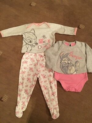 Baby Girls Disney Bambi Pyjama Set & Vest Top - 9-12 Months