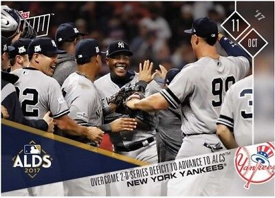 2017 Topps NOW MLB 749 New York Yankees Overcome 2-0 Series Deficit to Advance