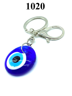 Classic Turkish Evil Eye Charm Key Chain for Protection and Good Luck #1020