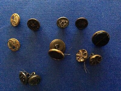 Collection of 10 Antique Buttons