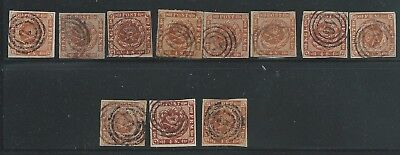 Denmark Good Duplicated Lot 4S Values X 11 Used For The Specialist