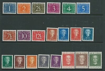 New Guinea 1950 Definitive Set Mnh Frsh Looking Nice!
