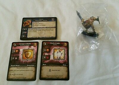 World of Warcraft Miniature Game, Graccus figure,Core-C and cards, WoW