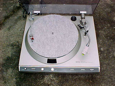 DENON DP-33f Direct Drive Turntable with optional record cleaning arm