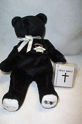 Holy Bears Commencement The Graduation Bear Black & White NWT