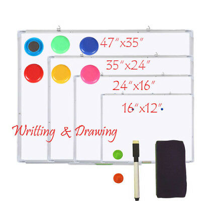 Magnetic Dry Wipe Whiteboard Office White Notice Memo Boards Meeting School Home