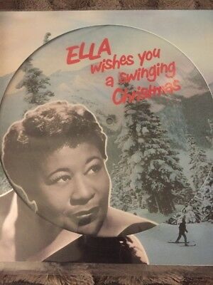 Ella Fitzgerald Wishes You A Swinging Christmas 2017 Picture Disc Vinyl Lp  New