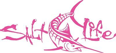 Salt Life Signature Deep Marlin Decal Pink Medium