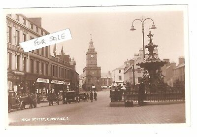 RP HIGH STREET DUMFRIES DUMFRIESSHIRE SCOTLAND UNUSED vintage motor cars