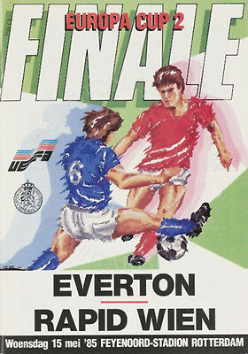 Everton v Rapid Vienna 1985 Cup Winners Cup Final Programme