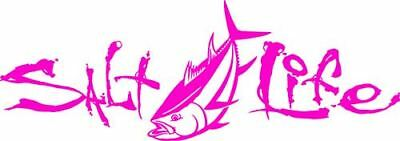 Salt Life Signature Tuna Decal Pink Medium