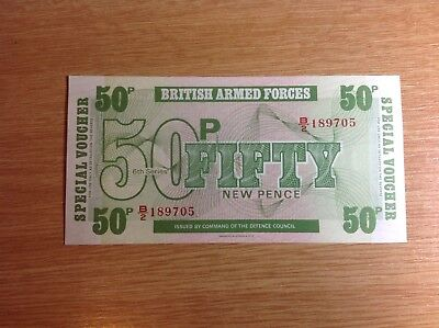 British armed forces 50p BANKNOTE/VOUCHER