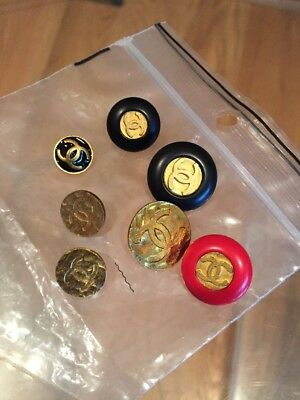 Lot Of 7 CHANEL Buttons, CC Logo